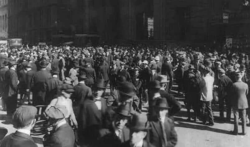 道琼斯工业平均指数1914年关闭